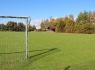 Fußballplatz mit Gerätehaus