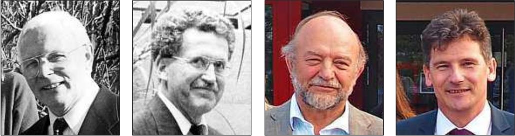 Die Schulleiter des König-Karlmann-Gymnasiums: (von links) Josef Egginger (1970 - 1990), Gernot Lamatsch (1990 - 2002), Rainer Jonda (2002 - 2011) und Rudolf Schramm (seit 2011).